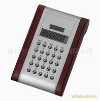 Wood 8 digit dual power calculator - 8 digit calculator solar calculator dual power calculator wooden computer desktop office gifts