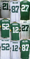 aaron rodgers green jersey - Packers Mens Jordy Nelson Haha Clinton Dix Eddie Lacy Clay Matthews Aaron Rodgers Stitched Jerseys Green