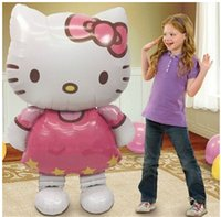 Wholesale Hello Kitty Ultra Large Balloons Birthday Party Decoration Children Toys Birthday Gifts For Kids Christmas Gift