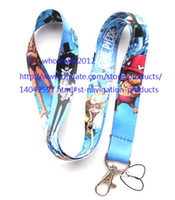 Universal Lanyard  Free shipping Lot 10pcs lot ONE PIECE Mobile Phone lanyard Key chain straps charms Wholesale
