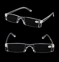 Reading Glasses - 2015 New White Reading Glasses Clear Rimless Eyeglasses Presbyopia Diopter High Quality