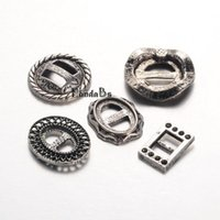 antique shoe buckles - Antique Silver Tone Mixed Tibetan Style Alloy Clasps Shoes Buckles Lead Free x13 x2 mm Hole x6 mm set
