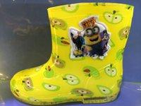 Wholesale 30pcs AAA quality dora kt spiderman minnions mickey minnie thomas princess barbie colors kid girl boys rain boots gift
