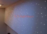 Wholesale DIY optic fiber light kit led light pcsx0 mm pcsx1mm m optical fibre color change star ceiling light W RGB IR remote
