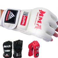 best mma gloves - Best Selling Pair Grappling MMA Sanda Muay Thai Training Half Mitts Boxing Punching Gloves