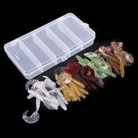 Wholesale 50Pcs Bionic Simulation Worms Single Tail Soft Baits Fishy Smell Fishing Lures Tackle Tool With Box Colorful Durable Outdoor