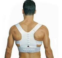 belt for back pain - Magnetic Posture Support Corrector Back Belt Band Pain Feel Young Belt Brace Shoulder for Sport Safety