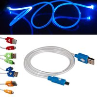orange red led - Red Blue Orange Visible LED Light Micro USB Data Sync Charging Cable For Samsung Galaxy Color