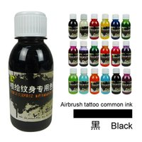 airbrush colors - ml airbrush tattoo common ink temporary tattoo pigment ink colors optional body paint ink