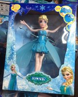 Wholesale Flying Frozen Doll Toys Princess Elsa Anna Dolls Party Fashion Electronic Toys Brinquedos Kids Christmas Gift