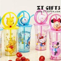 Wholesale With straw cartoon Flash Cup