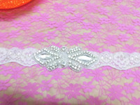 beaded headband patterns - Fashion Bridal Motif Silver Crystal Butterfly pattern Clear Rhinestone Applique Pearls Bridal Headband For Bridal AA cm cm