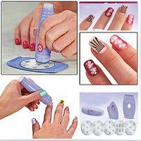 Cheap Salon Nail Art Express Decals Stamp Stamping Polish Design Kit Set Decoration[200413 ]
