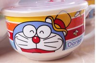 Cheap Creactive Cartoon Ceramic Instant Noodle Bowl Noodle Cup With Cover
