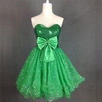 Cheap Under 100 Green Short Homecoming Dresses 2015 Sweetheart Corset Sequins Tulle Chep Prom Dresses Custom Made Party Prom Dress