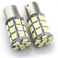 Wholesale White leds smd Car LED Light Bulb Lamp PY21W BAU15s Amber CANBUS Error Free Signal DC V