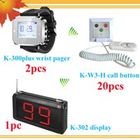 Wholesale 2015 hot wireless pager beeper nurse call system with Doctor Display Pager Nurse Watch Pager Patient call bells