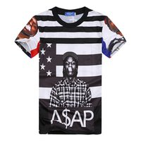 albums america - 3d t shirt great rapper asap rocky lil wayne classic album graphic tees hip hop america flag striped tee shirt for women men