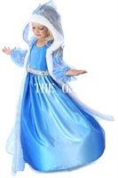 Cheap TuTu snow queen elsa costume Best Summer A-Line frozen elsa cape dress