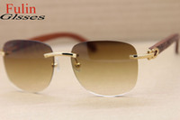 Wholesale New Style T8306000 Wood Sunglasses high grade Men Hot Glasses Size MM