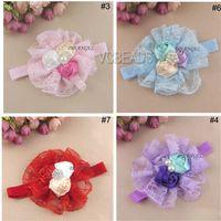 Cheap Baby hair accessories Best lace flower headband