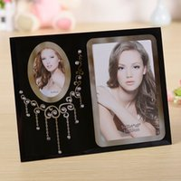glass photo frame - units pack X6 quot inch New Glass Photo Frame Hot Selling Wedding Gifts Black Glass Home Decoration GPF003