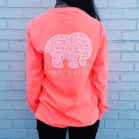 america elephant - 2016 new Women s new long sleeved T shirt printed elephant motifs explosion models in Europe and America free ship