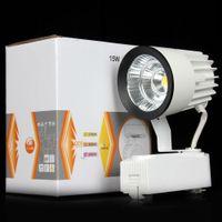 Gros-1pcs lumière COB 15W 1000lm Plafond rail lumière rail Ampoule LED système d'éclairage de la piste lampe halogène piste Led