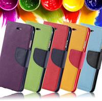 Mercury Portefeuille cuir PU TPU Hybrid Housse souple Folio Flip Housse Pour iPhone 5s 5c SE 6 Plus Samsung Galaxy S7 Edge S4 5 S6 Edge E7 Note 5 4