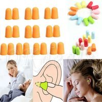 Wholesale 5 Pairs Of Random Color Soft Foam Earplug Ear Plug Keeper Protector Travel Sleep Noise Reducer