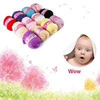 Wholesale New Skein g High Quality Natural Silk Cotton Baby Sweater Soft Yarn Knitting Hot