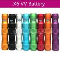 Cheap X6 VV 1300mAh Battery Colorful E Cigarette battery for Ego series clearomizer vs Vision Spinner 2 Tv2 battery EVOD V V3 battery 6 colors