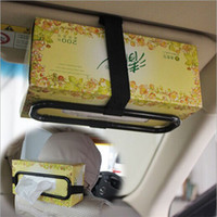 audi sun visor - Hot Salw Best seller Simple fashion Auto Car Sun Visor Tissue Box Holder Paper auto Seat Back Bracket Hold fit most vehicles zv jul