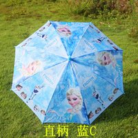 Wholesale 8styles new frozen Umbrella cartoon elsa anna olaf Rain and Sun Proof Children Umbrella cm DHL Hot Cute