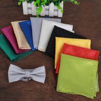 Wholesale 20 colors Luxury Pocket handkerchief silk kerchief gentleman business suit cravats for banquet party Christmas gift