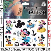 baby foot - Mickey Mouse Spider man Frozen Anime Cartoon Tattoo Stickers Monster high Body complete tattoo kit Women Men Baby Children s Gift