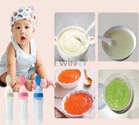 baby cereal feeder - Hot Selling Silicane Gel Spoon Infant Feeding Bottle Feeder Food Supplement Rice Cereal Spoon Rice Cereal Bottle for Baby