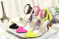 Wholesale Lady Transparent Shoes Dress Shoes Candy Color Mix Order New Arrival