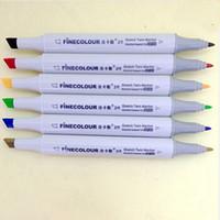 Wholesale Finecolour Alcohol Colors Copic Markers Color Pencil Sketch Copic Sketch Marker Sets Coloring Permanent Color Pen Sketch Markers