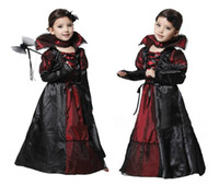 TV & Movie Costumes ballroom dancing costumes - Hot Fashion Design Children Gorgeous Vampire Halloween Costumes Modern Ballroom Dance Dresses Cosplay Costume