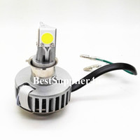Wholesale 18W Motorcycle LED Headlight H4 Hi Lo bulb sides degree lighting All in one driver
