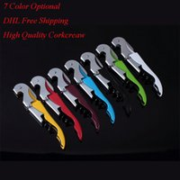 Wholesale 2016 Hot Selling New Wine Tool Bottle Opener Sea horse Wine Key Pulltap Double Hinged Corkscrew