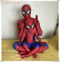 Wholesale Newest Halloween High quality Spiderman Classic Unisex Headgear Type D Digital Printing Zentai Suit