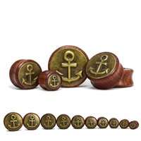 Wholesale 2015 hot sale New fashion magical body jewelry piercing rose wood ear gauges plugs and tunnels size mm WE