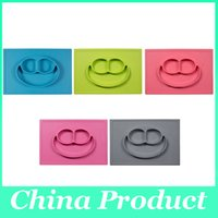 happy - Happy Mat Baby bowls kids tableware One piece silicone placemat plate Baby learning silicone cups dishes