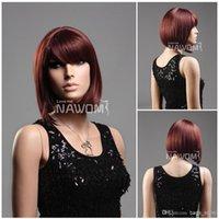 Wholesale women bob wigs auburn color ladies wigs Synthetic fiber of Kanekalon pc S1325 A