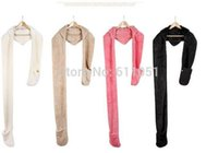 Wholesale 2 a Lowest Price Korean women new autumn winter scarf lovely double thick wool scarves with hats gloves three