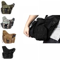 Wholesale Waterproof Nylon Men Women Sport Molle Tactical Shoulder Strap Bag Pouch Travel Backpack Camera Cross Body Military Bag H9767