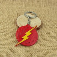 animal lovers league - High Quality Super Hero Keychain Justice League Flash Man Dwyane Personalized Avengers Enamel Red Alloy Keychain
