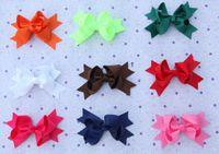hair grip pin - 30pcs Baby Girl Ribbon Big Bow Hair Clip Baby Rosette Hair Pins Hair Grips Girls Bowknot Hair Bows Headbands Children Hair Accessories